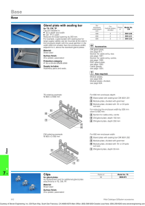 Base Gland plate with sealing bar Clips