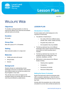 Wildlife web lesson plan - Murray Local Land Services