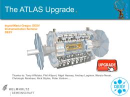 The ATLAS Upgrade - Joint Instrumentation Seminar