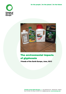 The environmental impacts of glyphosate