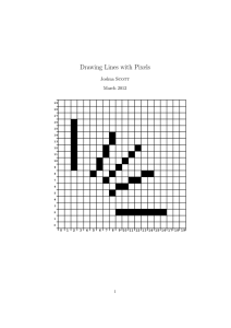 Drawing Lines with Pixels - Computer Science Unplugged