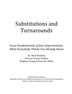 13 Substitutions and Turnarounds - Brigham Young University