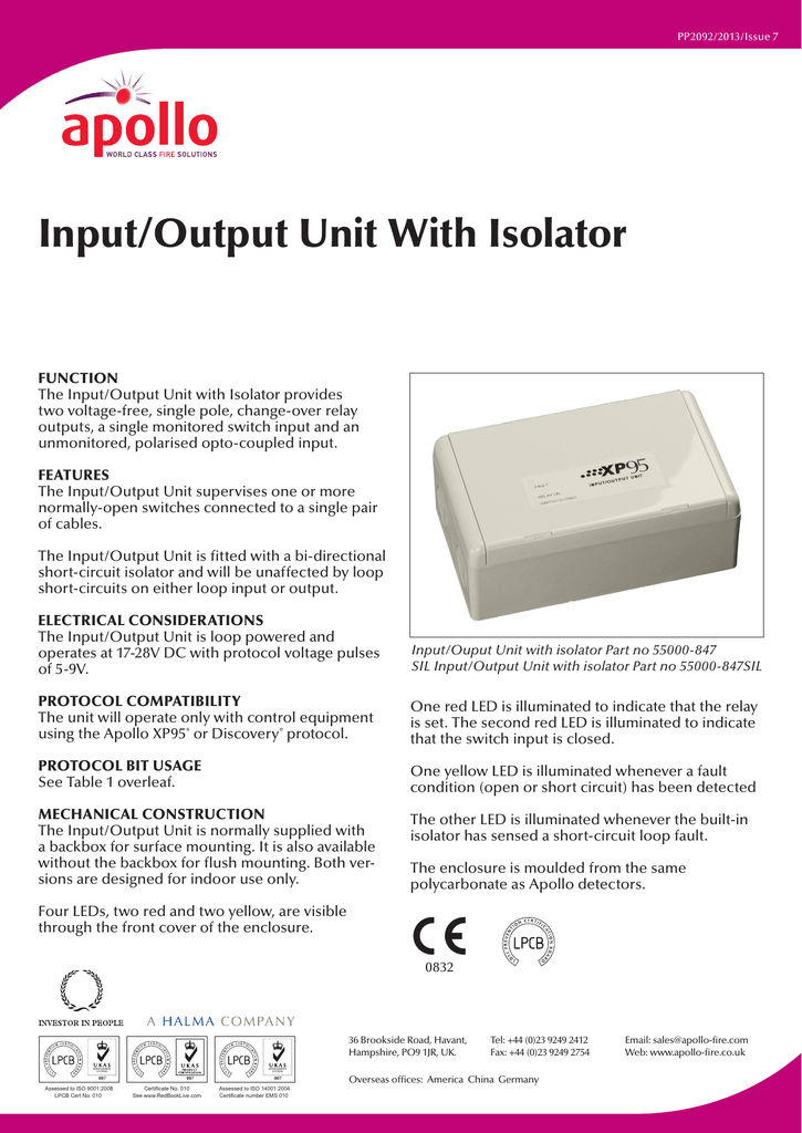 Prime Input Output Unit With Isolator Wiring 101 Breceaxxcnl