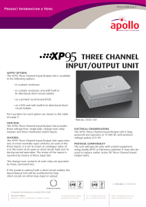 XP95 Three Channel Input/Output Unit