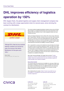 DHL improves efficiency of logistics operation by 150%