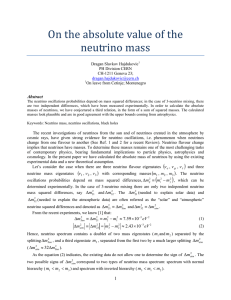 On the absolute value of the neutrino mass