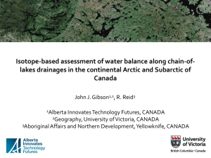 Isotope-based assessment of water balance along chain-of
