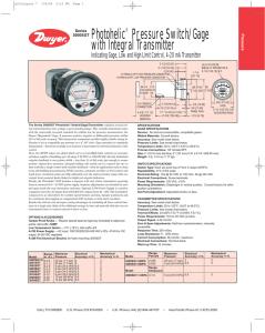 "Prosense SPT25-20-0300A Pressure Transmitter 0-300 PSI 4-20mA 1//4/"" MNPT"