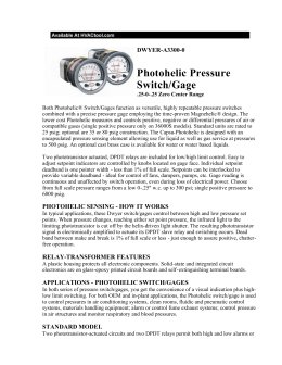 Photohelic Pressure Switch/Gage