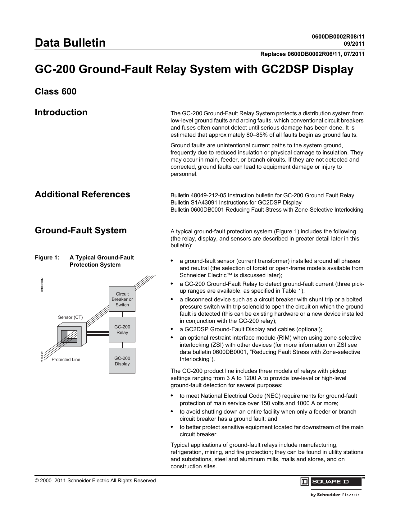 Gc 200 Ground Fault Relay System With Cost Of Electromagnetic