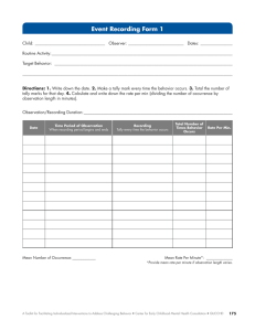 Event Recording Form 1