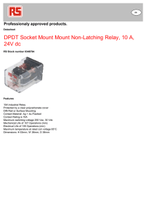 DPDT Socket Mount Mount Non-Latching Relay, 10 A, 24V dc