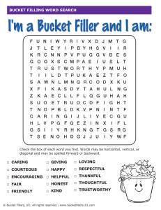Word Search - Bucket Fillers