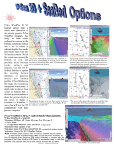 P-Sea WindPlot II 3D Seabed option adds a whole new dimension