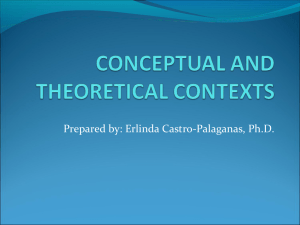 conceptual and theoretical contexts