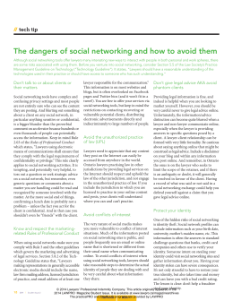 The dangers of social networking and how to avoid