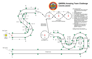 GWRRA Amazing Team Challenge Course Layout