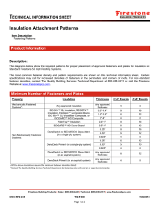 Insulation Attachment Patterns