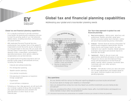 Global tax and financial planning capabilities