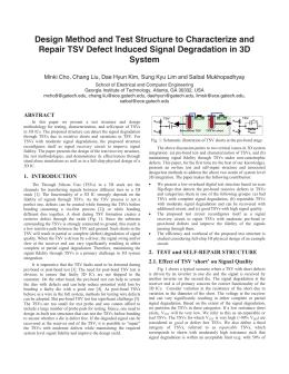 Design Method and Test Structure to Characterize and Repair TSV