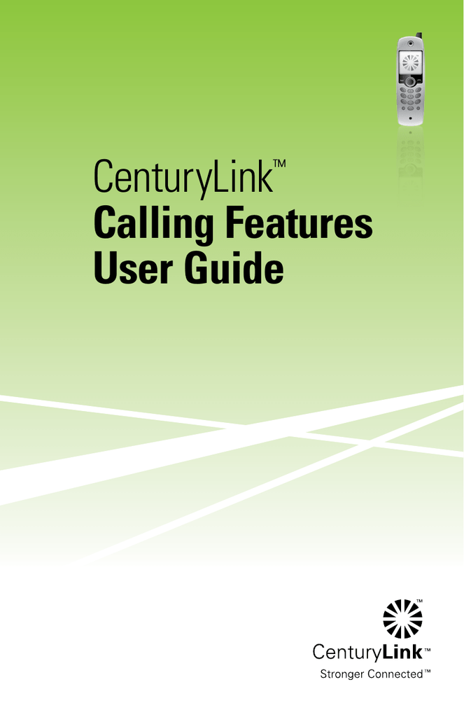 centurylink calling features user guide