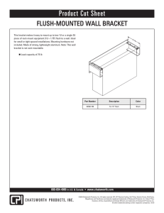 security flush-mount wall bracket