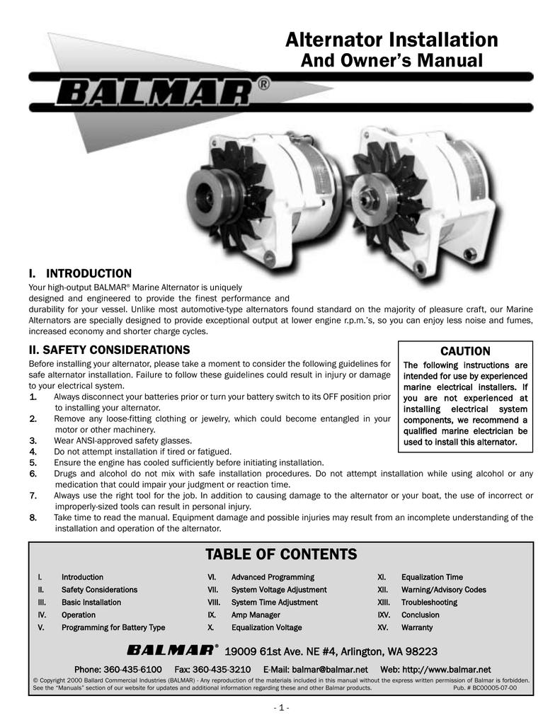 Balmar high output alternator installation asfbconference2016 Gallery