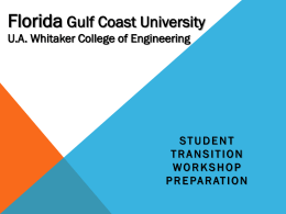 Florida Gulf Coast University U.A. Whitaker College of Engineering
