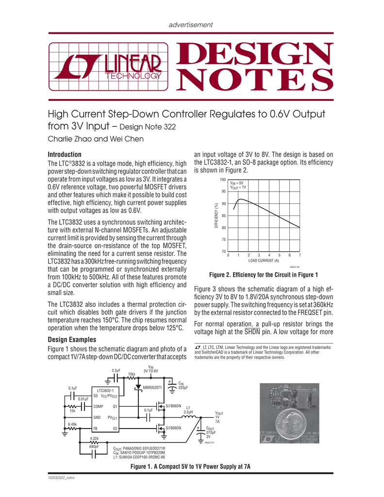 High Current Step Down Controller Regulates To 06v Output From Monolithic Synchronous Stepdown Dc Converter Linear Technology