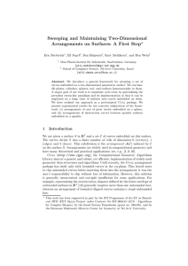 Sweeping and Maintaining Two-Dimensional Arrangements on