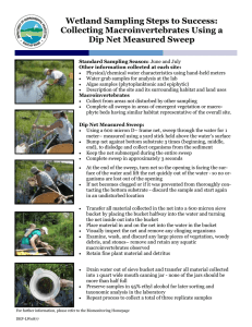 Wetland Sampling Steps to Success: Collecting