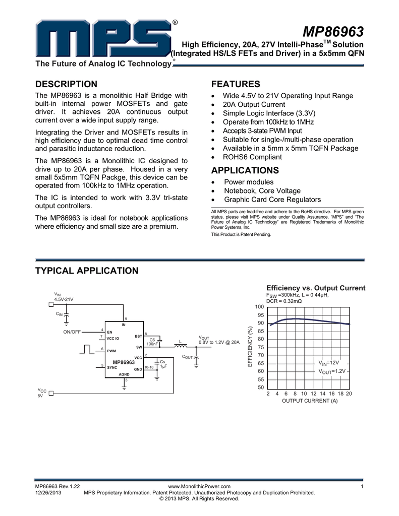 Mp86963 Monolithic Power System Junction Fets
