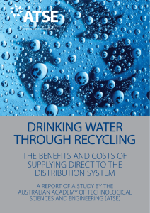 Drinking water through recycling