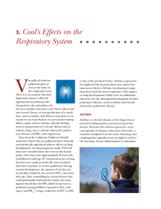 3. Coal`s Effects on the Respiratory System