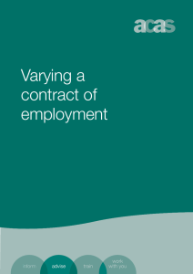 Varying a contract of employment