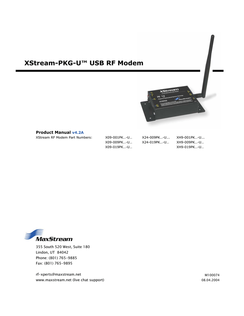 MAXSTREAM USB DRIVER PC