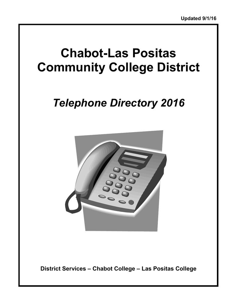 Chabot Las Positas Community College District Telephone