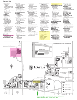 Loyola University Maryland Campus Map