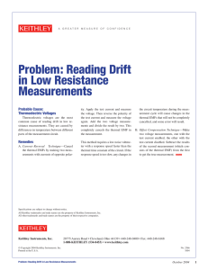 Problem: Reading Drift in Low Resistance Measurements