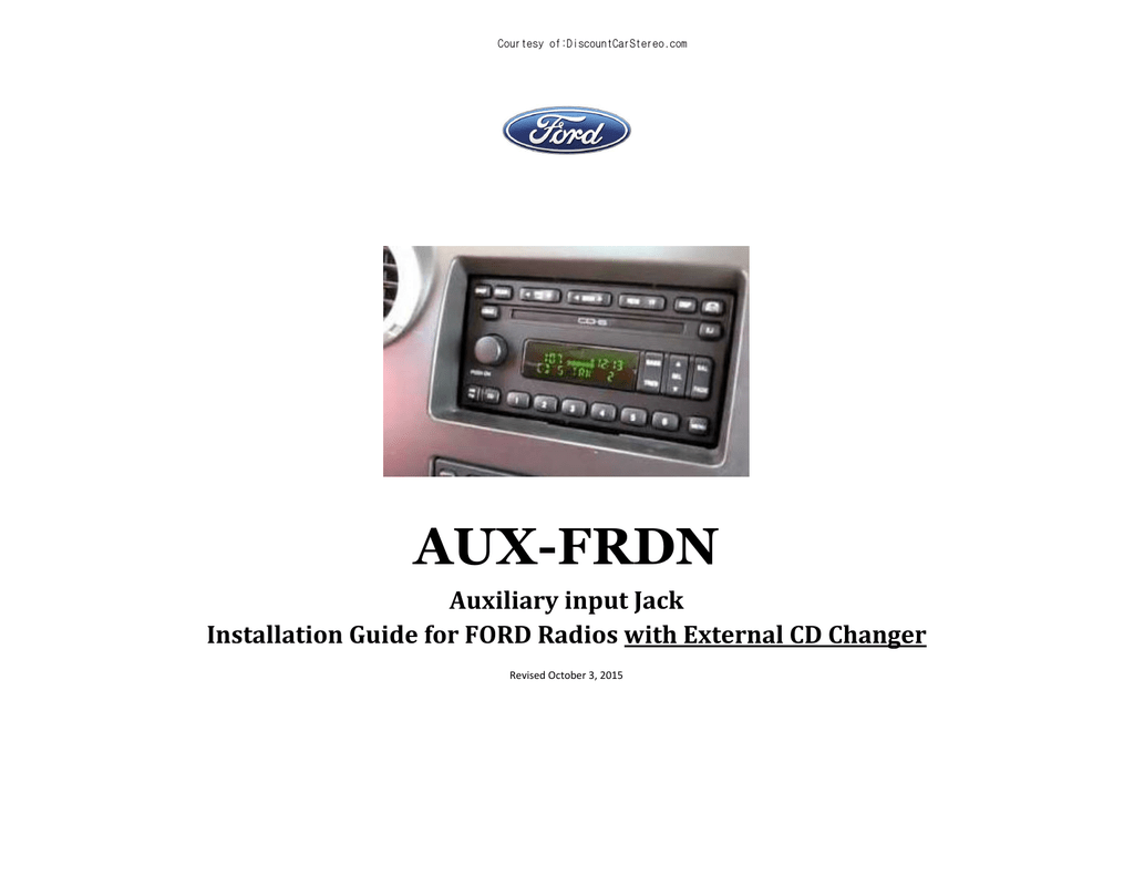 AUX-FRDN Auxiliary Input Jack for Ford with CD Changer