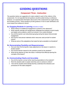 Guiding Questions for Instruction