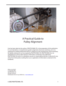 A Practical Guide to Pulley Alignment