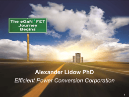 Overview of EPC eGaN® FET technology