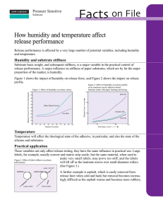 Humidity and temperature affect release performance