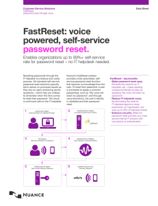 FastReset: voice powered, self-service password reset.