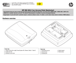 Hp Procurve M110 Ap Manual