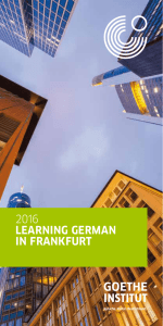 Learning German in Frankfurt 2016 - Goethe