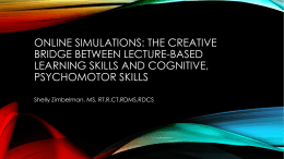 online simulations: the creative bridge between lecture
