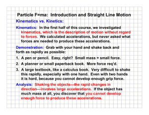 Particle F=ma: Introduction and Straight Line Motion