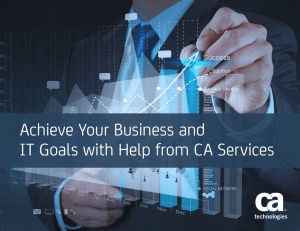 Achieve Your Business and IT Goals with Help